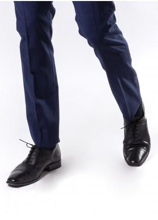 scarpa uomo John Barritt, bassa stringata allacciatura francese in pelle di vitello, suola in cuoio effetto vintage, colore nero. Composizione 100% pelle. Nero