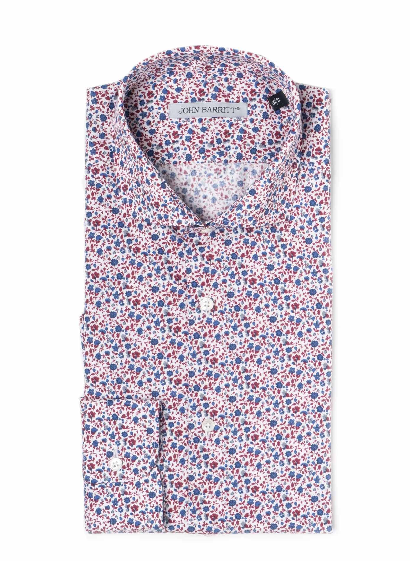 Camicia uomo john barritt slim fit in cotone stampato for Piccolo in francese