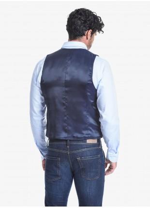 Gilet doppiopetto uomo John Barritt, vestibilità slim, tessuto in maglia con micro fantasia. Composizione 100% cotone. Sky Blue