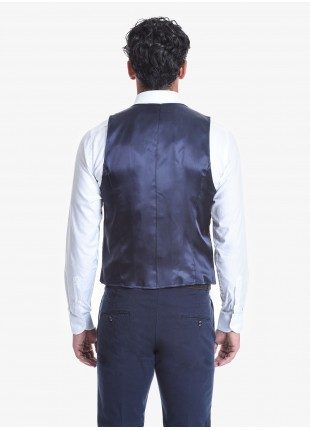 Gilet doppiopetto uomo John Barritt, vestibilità slim, fantasia a quadretti. Composizione 80% lana vergine 20% poliammide. Cverde Militare