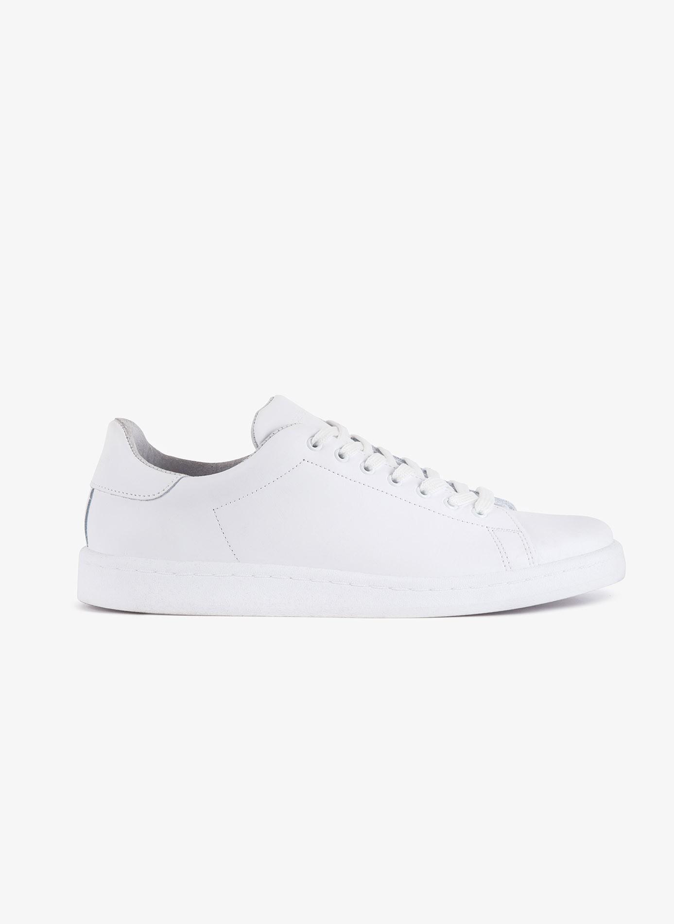 116e2e34e9d2d0 Scarpa sneaker uomo John Barritt, in vera pelle, colore bianco. Suola in  gomma. Composizione 100% pelle. White