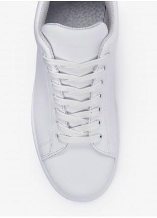 Scarpa sneaker uomo John Barritt, in vera pelle, colore bianco. Suola in gomma. Composizione 100% pelle. White