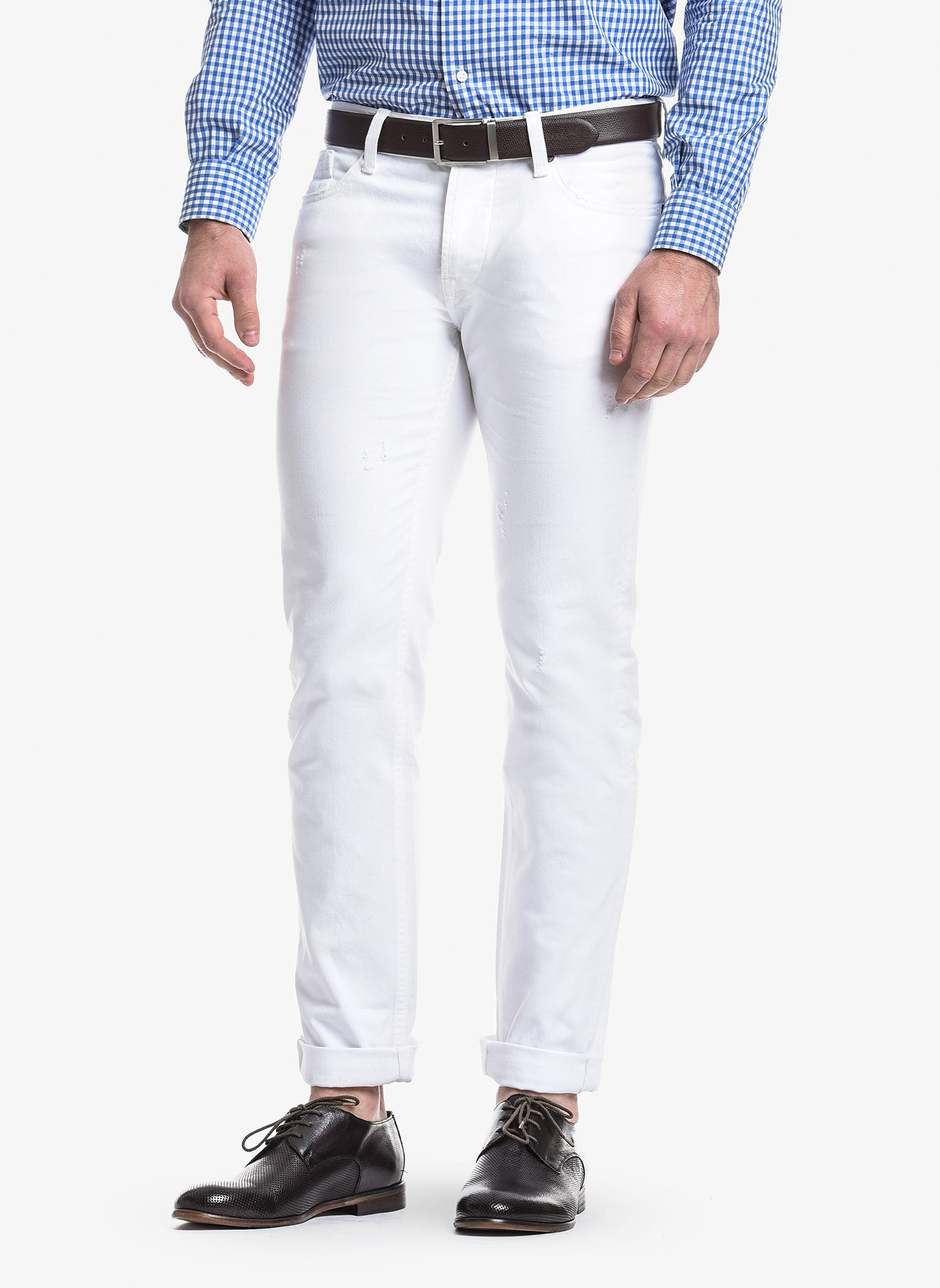 67247133 John Barritt man five pockets jeans, slim fit, in stretch denim ...