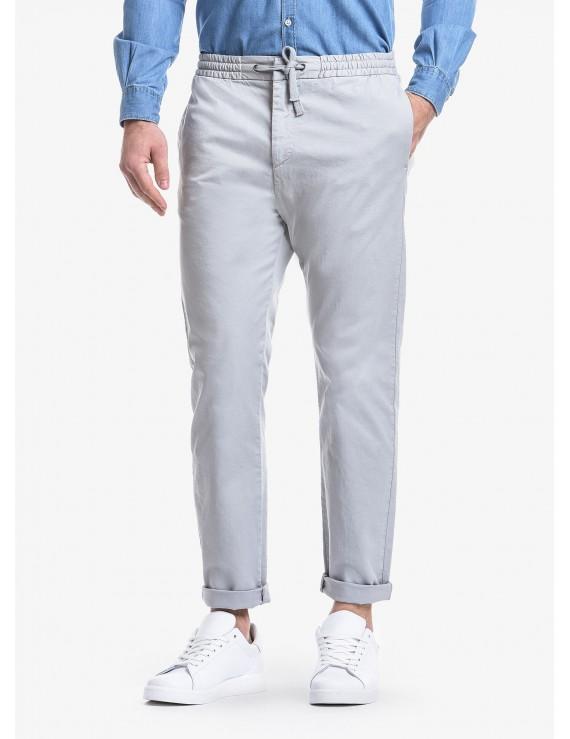 a87f76d04ecfe6 Pantalone uomo John Barritt, vestibilita slim, elastico e coulisse in vita,  tasche inserite nel fianco davanti ...