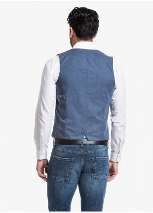 John Barritt man gilet, slim fit, jersey fabric, color light grey. Composition 100% cotton. Light Grey Melange