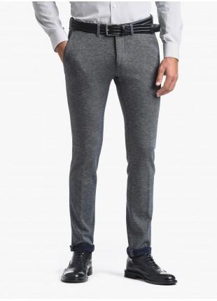 Pantalone chinos uomo John Barritt, vestibilita slim, in jersey di cotone. Composizione 100% cotone. Sky Blue