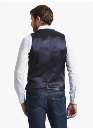 Gilet uomo John Barritt, vestibilita slim, tasche a pattina, tessuto in jersey, colore marrone. Composizione 34% poliammide 31% lana 30% cotone 5% elastan. Marron Chiaro