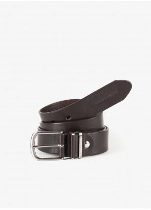 Cintura John Barritt,  100% pelle. Marron Chiaro