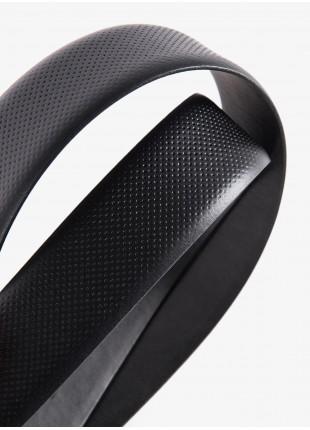 Cintura uomo John Barritt, regolabile, altezza 3.5 cm, in pelle stampata colore nero. Fibbia in metallo galvanica canna di fucile opaco. Composizione 100% pelle. Nero