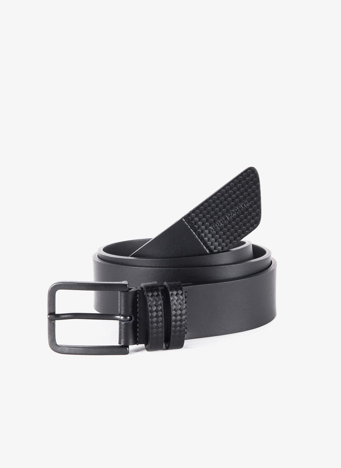 aea2ddc27c Cintura uomo John Barritt, regolabile, altezza 3.5 cm, in pelle con ...