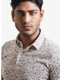 John Barritt man polo shirt, slim fit, short sleeve, classic collar, cotton jersey fabric with digital print flower pattern. Composition 100% cotton. Rose