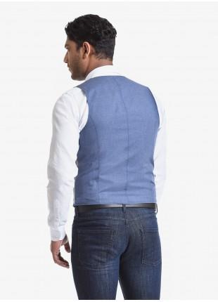 Gilet doppiopetto uomo John Barritt, vestibilita slim, tasche a filetto. Tessuto in jersey di cotone, colore grigio chiaro. Composizione 100% cotone. Grigio Chiaro Melange