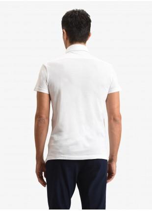 John Barritt man polo shirt, slim fit, piquet cotton fabric, color white. Composition 100% cotton. White