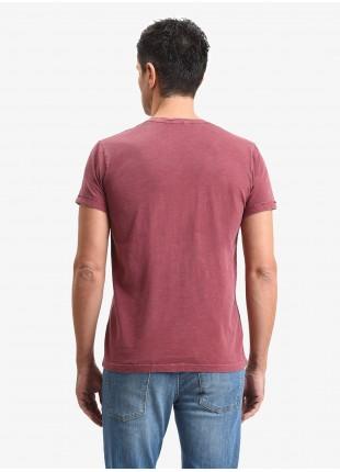 T-shirt uomo John Barritt, vestibilita slim, modello girocollo, tessuto in cotone fiammato, colore rosso. Composizione 100% cotone. Rosso Malboro Classico