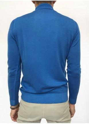 Sweater: Merino wool turtleneck , 14gg, garment dyed, burgundy/brown colour. 100%WOOL Bluette